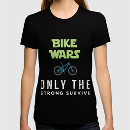 Funny Bike Wars design for Cyclists T-shirt