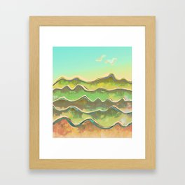 Magic Flight over the Sea of Clouds Framed Art Print