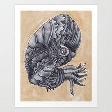 Mars Octopus Art Print