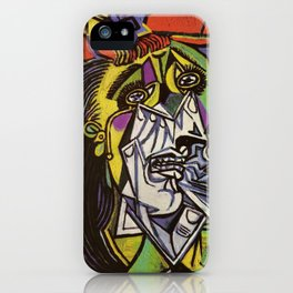 THE WEEPING WOMAN - PICASSO iPhone Case