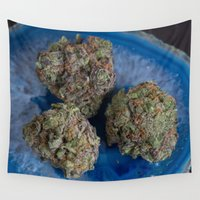 ape Wall Tapestries featuring Grape Ape Medicinal Medical Marijuana by BudProducts.us