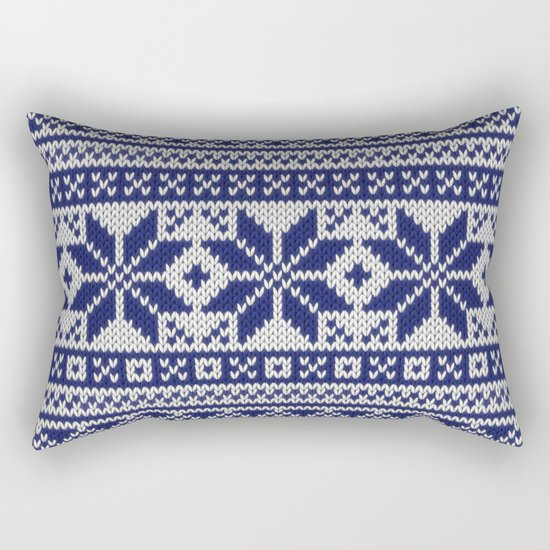 Winter knitted pattern 5 Rectangular Pillow