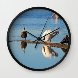 I'm Not Looking Wall Clock