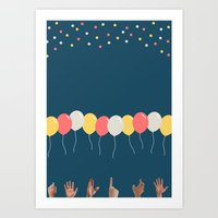 baloon Art Prints featuring Baloon by ARIS8