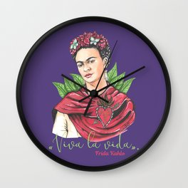 Frida Viva la vida Wall Clock