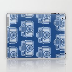 I Still Shoot Film Holga Logo - Reversed Blue Laptop & iPad Skin