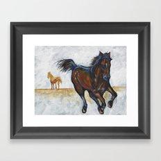 Study of horse(s) Framed Art Print