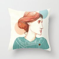 virginia Throw Pillows featuring Dear Virginia... by flaviasorr