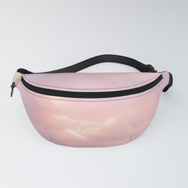 Pink Sunset Explosion   Puffy Clouds   Skyscape Photography   Pink Sky   Landscape   Sunset Fanny Pack