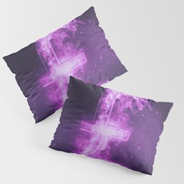 Pound sterling sign, Pound sterling Symbol. Monetary currency symbol. Abstract night sky background. Pillow Sham