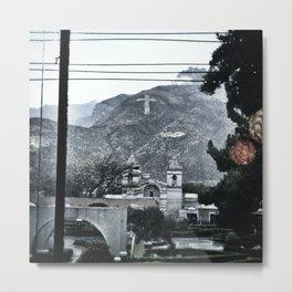 Hillside, Chivay, Peru. Metal Print