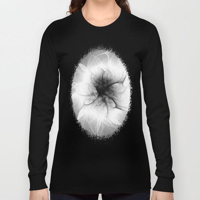 Ghost Flower Fractal Long Sleeve T-shirt