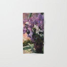 Mary Cassatt Lilacs in a Window 1880 Hand & Bath Towel