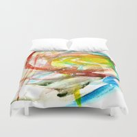 contact Duvet Covers featuring contact by Kay Weber