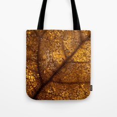 illuminated leaf Tote Bag