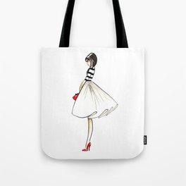 Kate Fashion Illustration Tote Bag