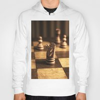 chess Hoodies featuring Chess by Janelle