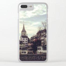 Zurich in Winter Clear iPhone Case