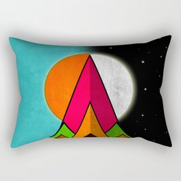 Mountain Day and Night Rectangular Pillow
