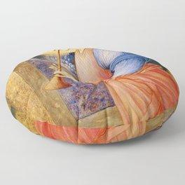 Angel Gabriel Antique Spiritual art Floor Pillow