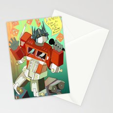 Optimus Prime DARE to keep your dreams alive! Stationery Cards