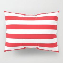 Horizontal Red Stripes Pillow Sham