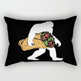 Funny Bigfoot Carrying Taco Lover Mexican Gift Rectangular Pillow