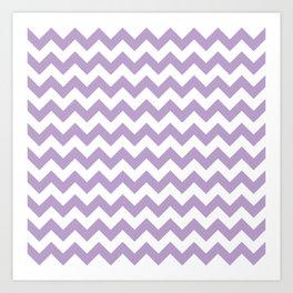 Lavender Chevron Pattern Art Print