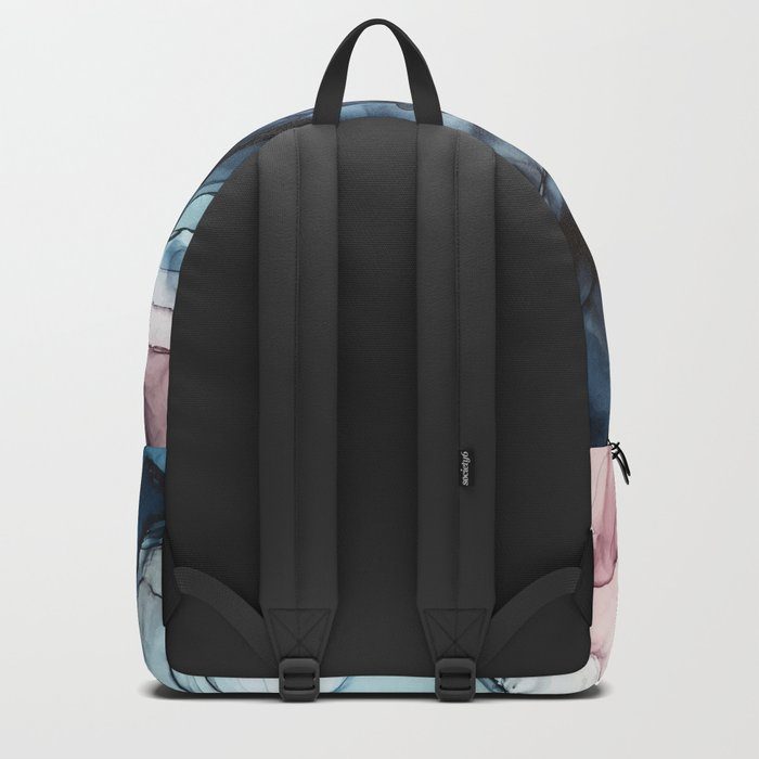 Blush and Darkness Abstract Paintings Rucksack