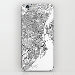 Montreal White Map iPhone Skin