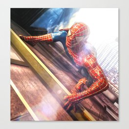 Spider Man in Action Canvas Print