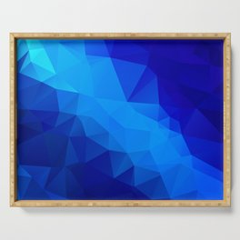 Abstract digital art polygon triangles Serving Tray