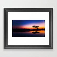 Travel to Sunset 06 Framed Art Print