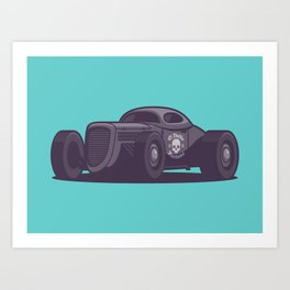 GAZ GL1 Custom Vintage Hot Rod Classic Street Racer Car - Aqua Art Print