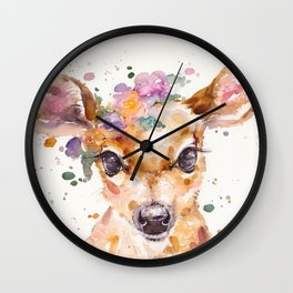 Little Deer Wall Clock
