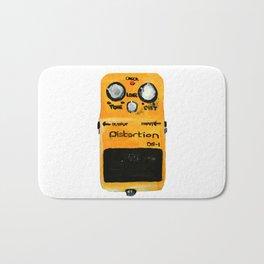 Guitar Distortion Pedal Acrylics On Paper (White Edit) Bath Mat
