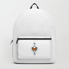 Geometric Pattern with Monarch Butterflies Backpack