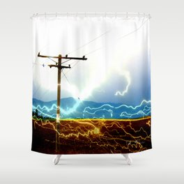 Power Baby, Power by D. Porter Shower Curtain