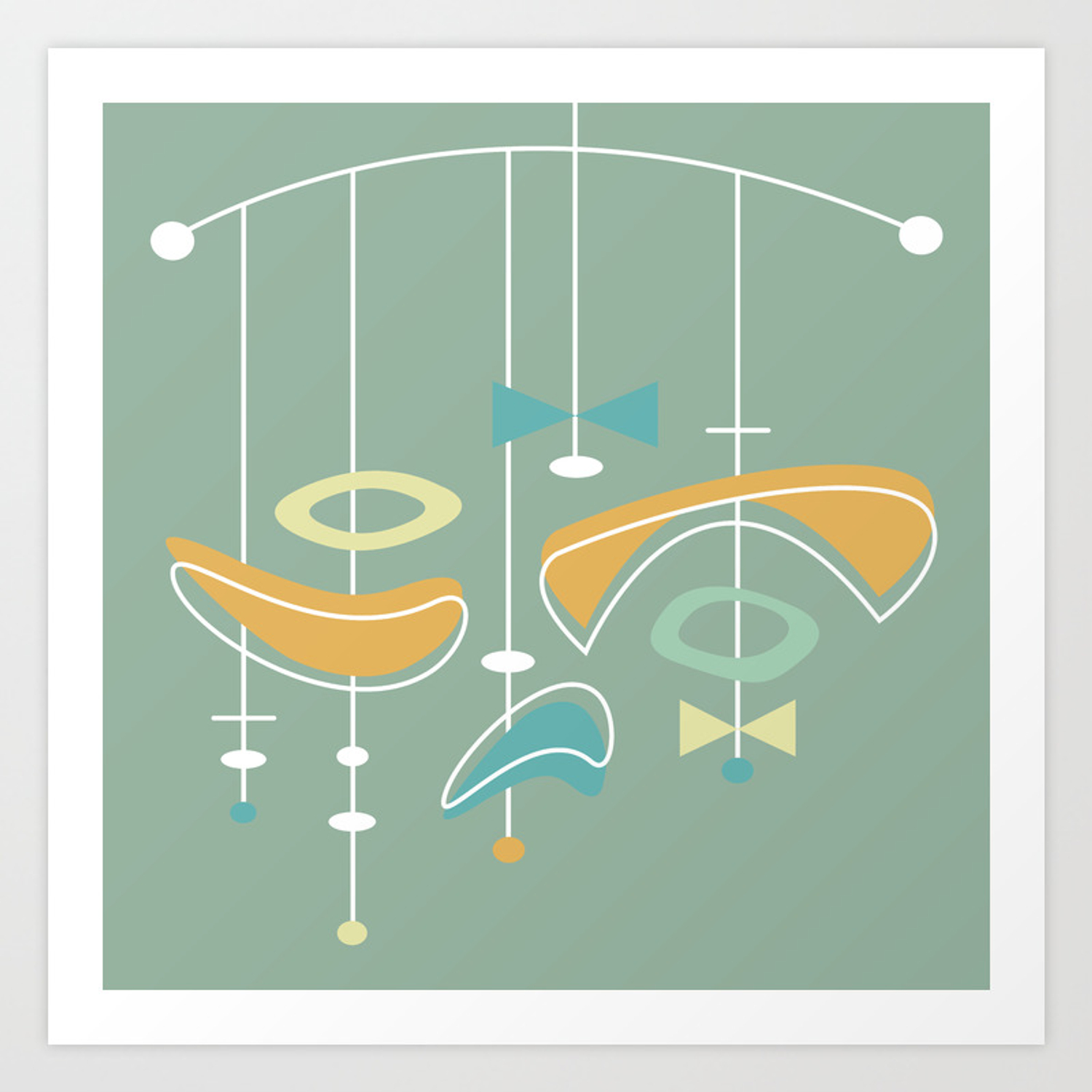 Atomic Age Mid Century Modern Art Print By Imagepixel Society6