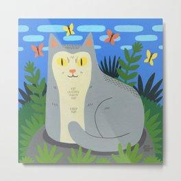Peaceful Cat Metal Print