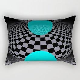 go turquoise -8- Rectangular Pillow