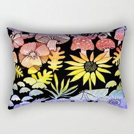 Rainbow mushrooms, autumn nature Rectangular Pillow