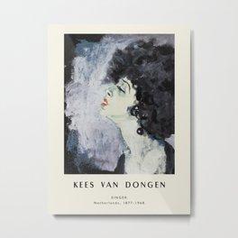 Poster-Kees van Dongen-Singer. Metal Print
