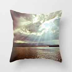 Sun Beams (Warm Tone) Throw Pillow