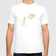 All about food MEDIUM Mens Fitted Tee White