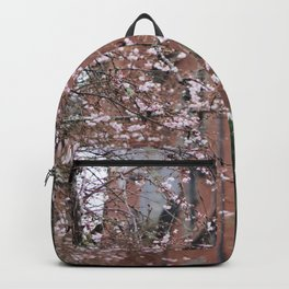 Cherry Blossoms in the Snow Backpack