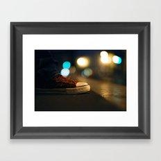 Converse All Star Night Lights Framed Art Print