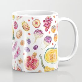 Autumn Harvest Pattern White Coffee Mug