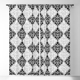 Scroll Damask Pattern BWG Blackout Curtain