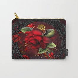 Rose Red Carry-All Pouch